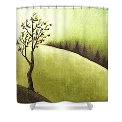 South Wind Shower Curtain by Danielle R T Haney