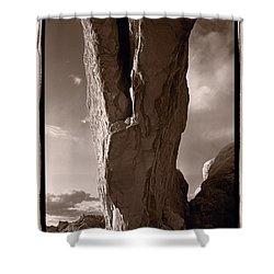 South Window Arch Arches National Park Shower Curtain by Steve Gadomski