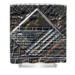 Southbank London Abstract Shower Curtain