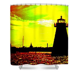 Southcoast Silhouette  Shower Curtain