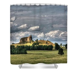 Belltower Butte Shower Curtain