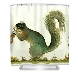 Southern Fox Squirrel Peanut Shower Curtain
