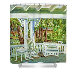 Southern Porches Shower Curtain