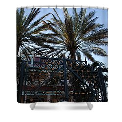 Southernmost Hotel Entrance In Key West Shower Curtain by Susanne Van Hulst