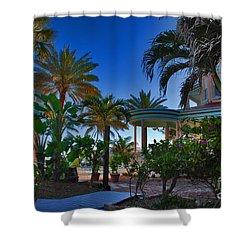Southernmost Lush Garden In Key West Shower Curtain by Susanne Van Hulst