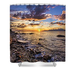 Southold Sunset Shower Curtain