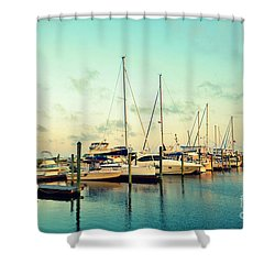 Shower Curtain featuring the photograph Southport Marina by Kelly Nowak