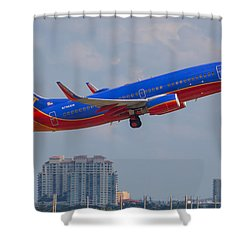 Southwest Airlines Shower Curtain