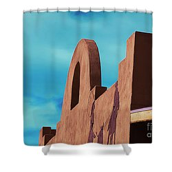 Southwest Architecture Shower Curtain by Anne Rodkin
