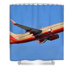 Southwest Boeing 737-7h4 N792sw Retro Gold Phoenix Sky Harbor January 21 2016 Shower Curtain by Brian Lockett