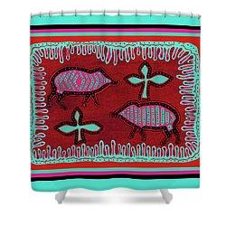 Shower Curtain featuring the digital art Southwest Desert Javelina by Vagabond Folk Art - Virginia Vivier