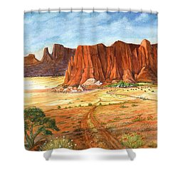 Southwest Red Rock Ranch Shower Curtain