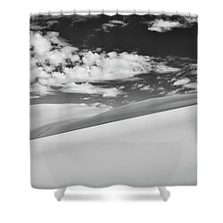 Southwest Sands Of Colorado In Black And White Shower Curtain