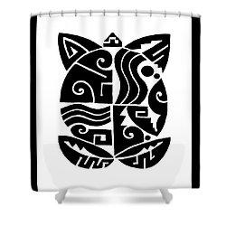 Shower Curtain featuring the digital art Southwest Tribal Tortuga by Vagabond Folk Art - Virginia Vivier