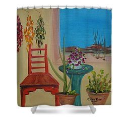 Shower Curtain featuring the painting Southwestern 6 by Judith Rhue