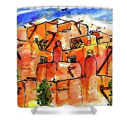 Southwestern Architecture Shower Curtain by Terry Banderas