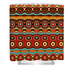 Shower Curtain featuring the digital art Southwestern Colors Pattern by Jessica Wright