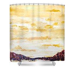 Southwestern Mountain Range Shower Curtain