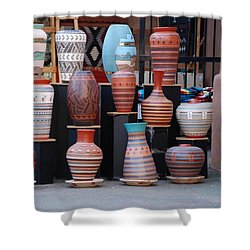 Southwestern Potery Shower Curtain by Rob Hans