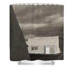 Shower Curtain featuring the photograph Southwestern Skies by Heidi Hermes
