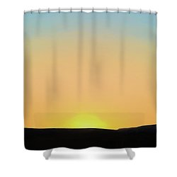 Shower Curtain featuring the photograph Southwestern Sunset by David Gordon