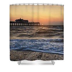 Southwold Pier Shower Curtain by Ian Merton