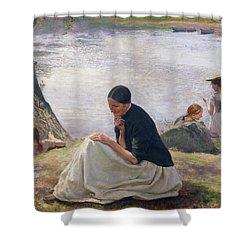 Souvenir Shower Curtain by Emile Friant