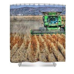 Soybean Harvest Fremont County Iowa Shower Curtain