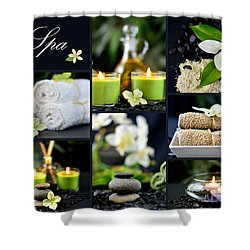 Spa Collage Shower Curtain