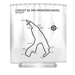 Spa Francorchamps Shower Curtain by Mark Rogan