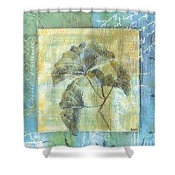 Spa Gingko Postcard  2 Shower Curtain by Debbie DeWitt