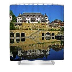 Spa Resort A-rosa - Kitzbuehel Shower Curtain by Juergen Weiss