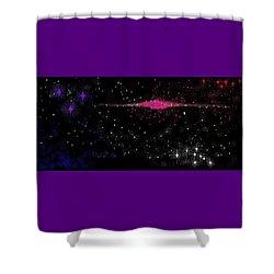 Space 4 Shower Curtain by Linda Velasquez