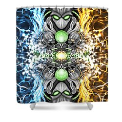 Space Alien Time Machine Fantasy Art Shower Curtain