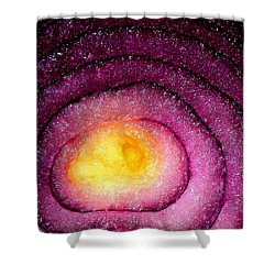 Space Allium Shower Curtain