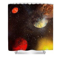 Space Balls Shower Curtain