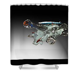 Shower Curtain featuring the photograph Vw In Space by Christopher Woods