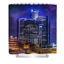 Shower Curtain featuring the photograph Space Detroit by Nicholas  Grunas