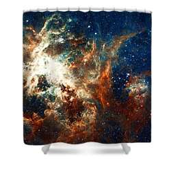 Space Fire Shower Curtain