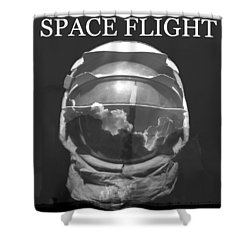 Space Flight Shower Curtain by David Lee Thompson