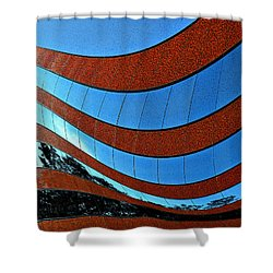 Space Geometry #8 Shower Curtain by Alex Galkin