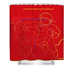 spACE HOP Shower Curtain by Tony Adamo