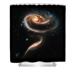 Space Image Galaxy Rose Shower Curtain