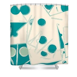 Space-time Shower Curtain by Moustafa Al Hatter