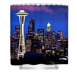 Space Needle At Night  Shower Curtain