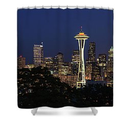 Space Needle Shower Curtain by David Chandler
