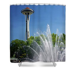 Space Needle In Seattle Shower Curtain