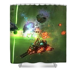 Space Pirates And Zombies 2 Shower Curtain