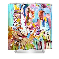 Space Talkers Shower Curtain