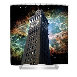 Space-time Shower Curtain by Brian Wallace